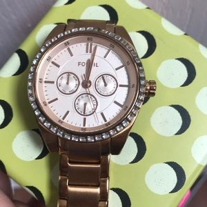 Fossil Rose Gold Stainless Steel Ladies Watch